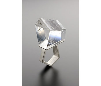 Babette von Dohnanyi - Ring in silver and rock crystal £990
