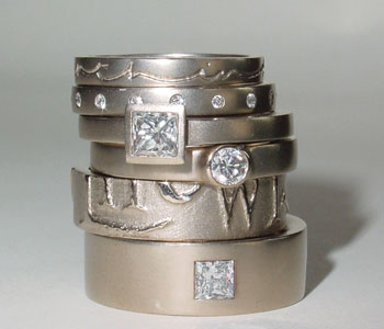 18ct White Gold & White Diamond Rings