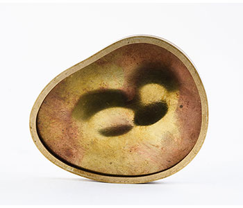 Mirrors of the Alchemist – brooch in brass