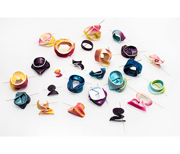 Curiosity - brooches in recycled plastics